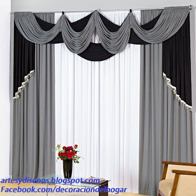 DECORACION DE CORTINAS PARA INTERIORES by artesydisenos.blogspot.com