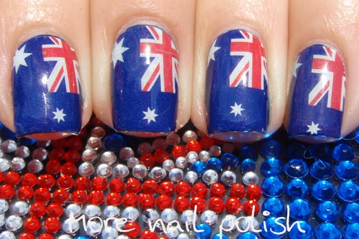 23 australia day nail art ideas more nail polish 10 classic flag nail wraps prinsesfo Gallery