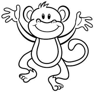 kleurplaten dieren aapje kleurplaat