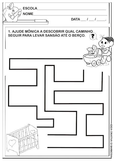 Atividade Coordenação Motora Labirinto