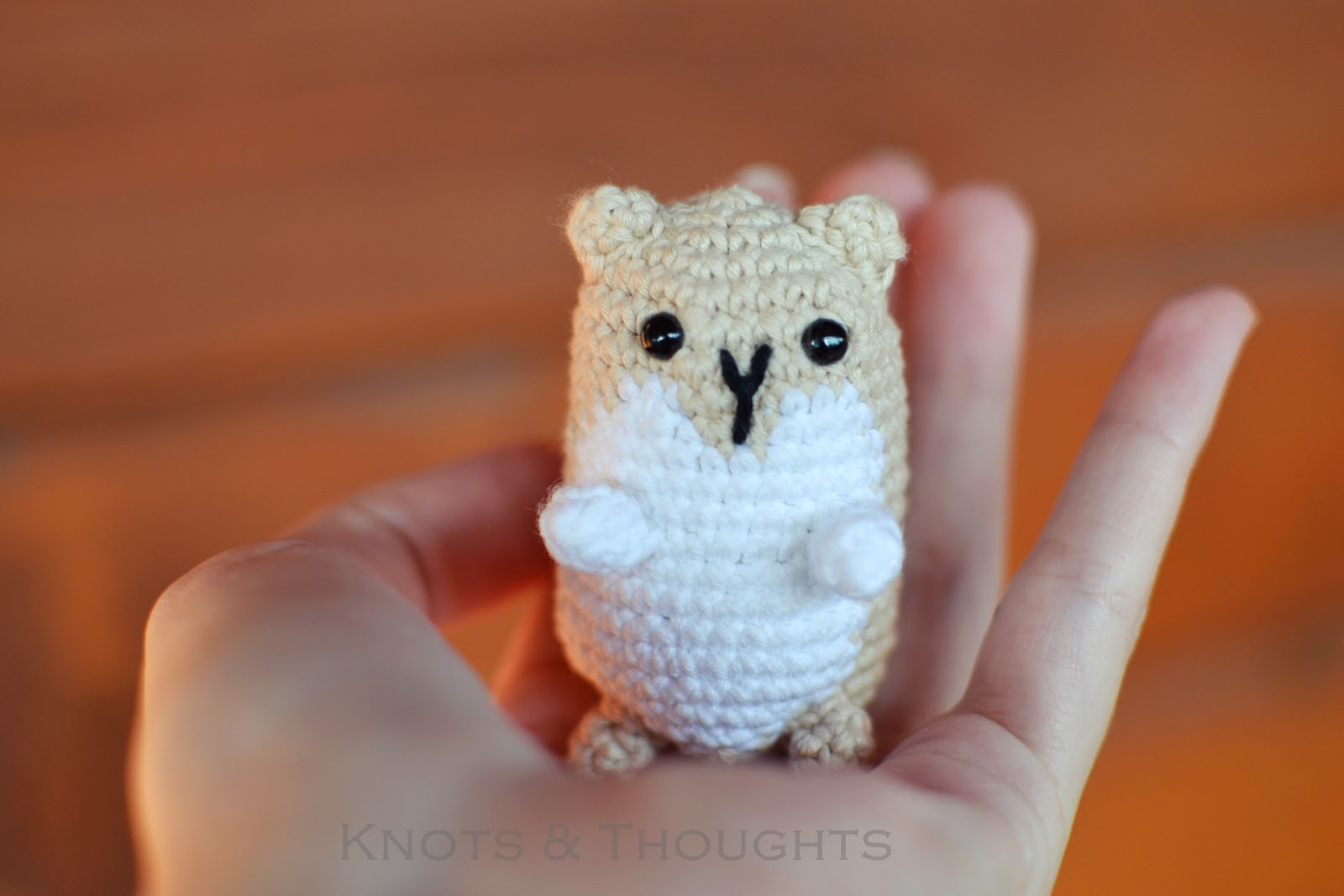 Knots and Thoughts: Amigurumi Hamster - my first finished ...