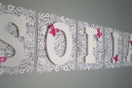 Lullaby wall decor february 2012 Wall letters decor