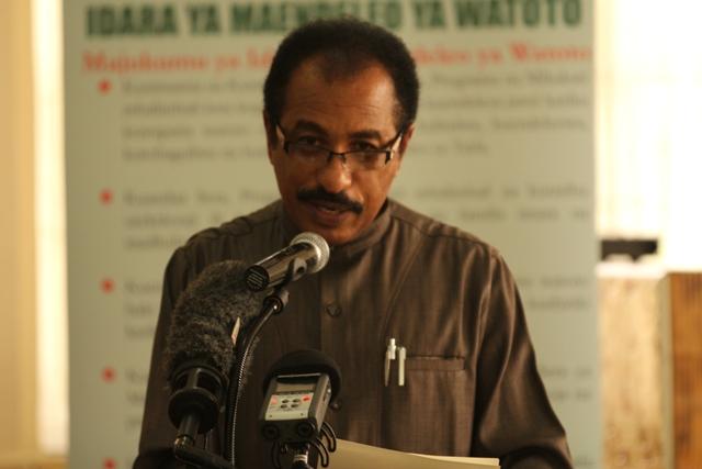Afya na Ustawi wa Jamii Mhe. Dr.Seif Rashidi akieleza namna Wizara ya