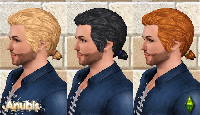 The Sims Medieval Male Hairs Set by Anubis360 AmHairRyan_2