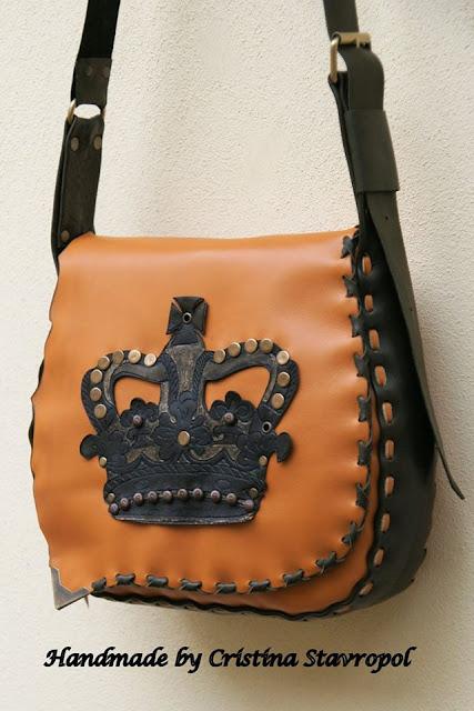 geanta handmade coroana regala