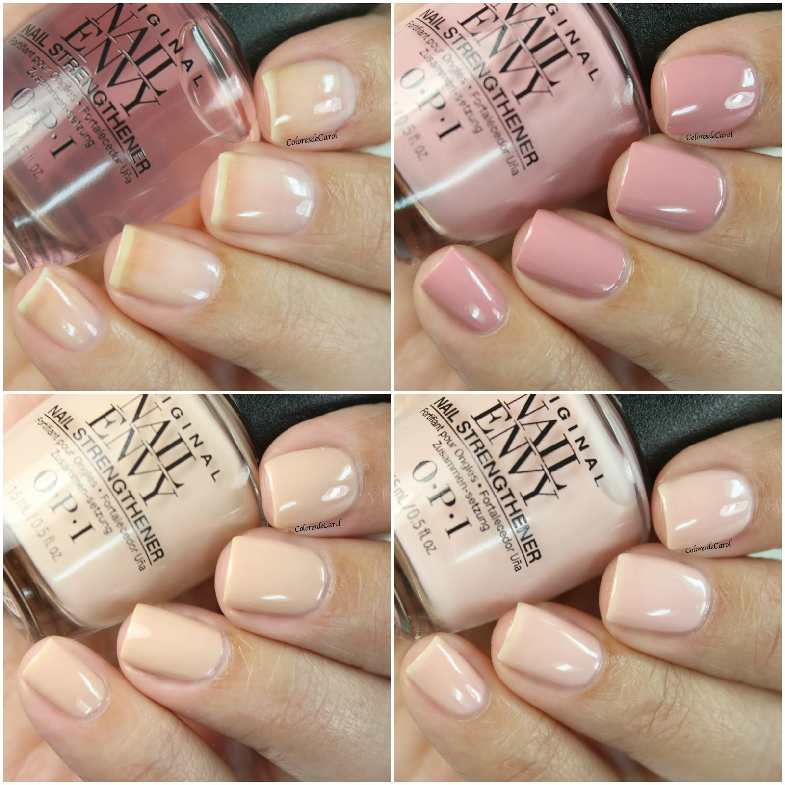 Colores de Carol: OPI Nail Envy, Strength + Color
