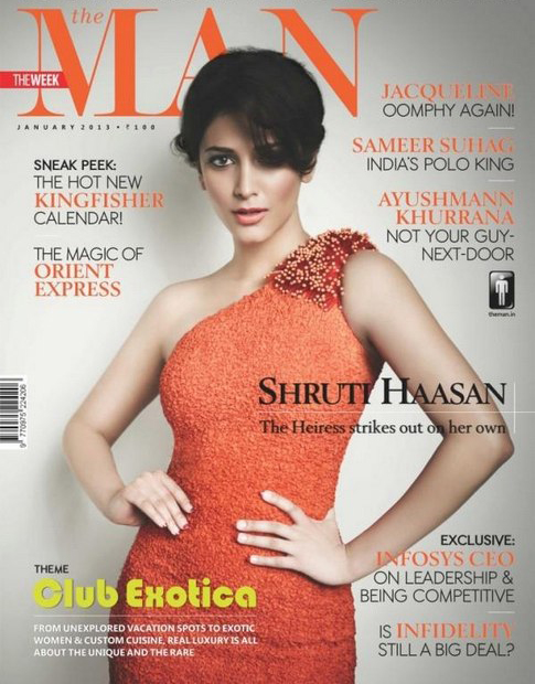 Shruthihasan Man Magazine Photoshoot