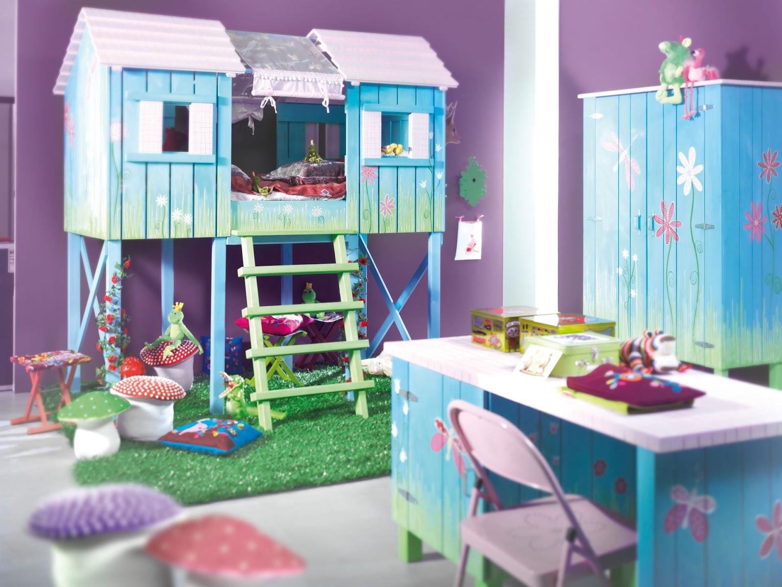 Dormitorios y camas para ni os y bebes decoracion de salones - Dormitorio para ninas ...