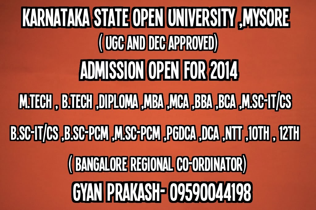 KSOU - Karnataka State Open University, Mysore - Courses ...