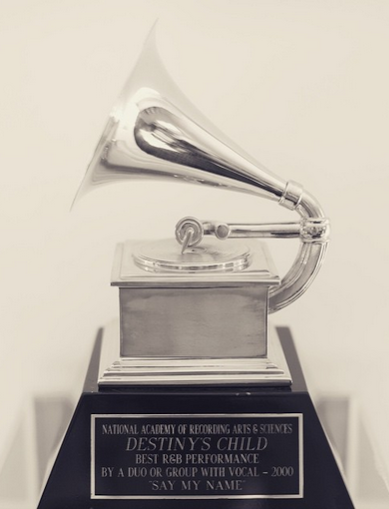 Beyonce Shares Photo Of Her 1st Grammy Award - INFORMATION NIGERIA
