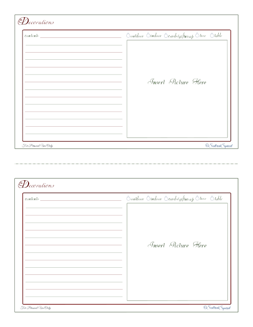 free printables, decorations, organizing, holiday planner, home management binder