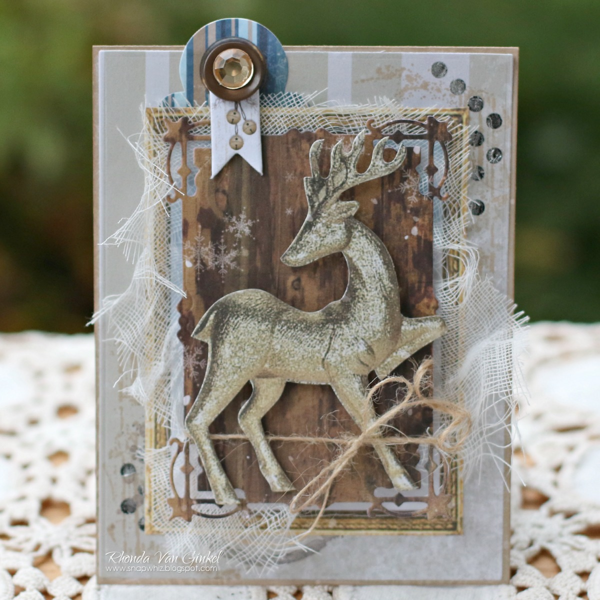 Oh Deer card for BoBunny designed by Rhonda Van Ginkel