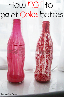 how not to paint coke bottles with acrylic and gloss paint