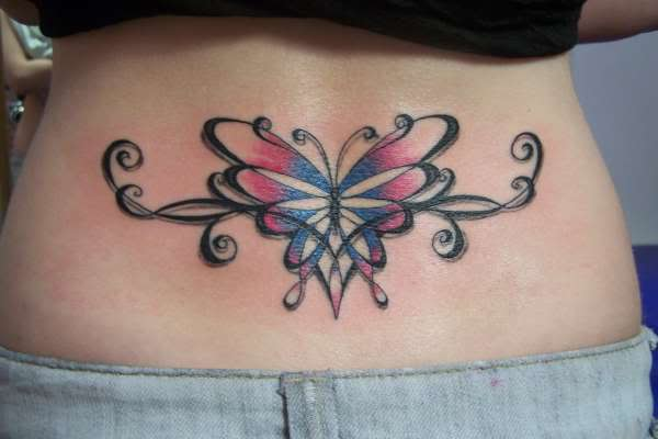 Butterfly tattoos on hip for girls all about for Butterfly tattoos gallery