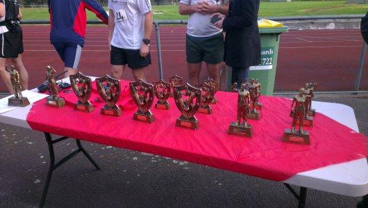 Coburg Harriers Half Marathon 2013 trophies