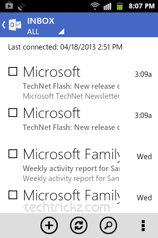 Outlook.com Android app