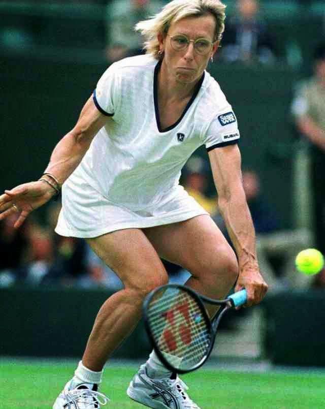 Martina Navratilova - the vegetarian tennis player