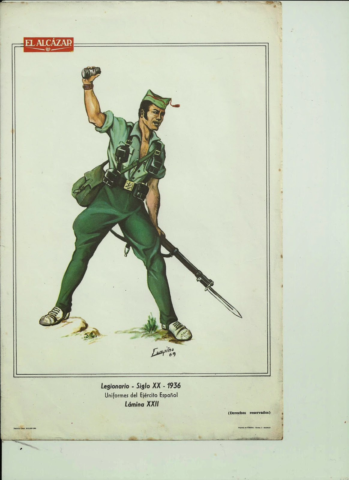UNIFORMES DEL EJÉRCITO ESPAÑOL: Colección de láminas – Estudio de ...