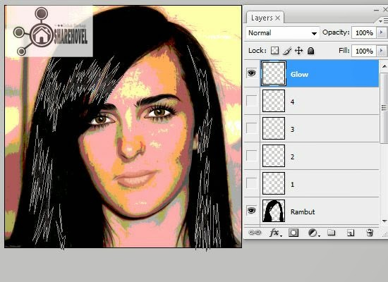 cara membuat vector rambut di photoshop - tutorial membuat vector di photoshop - membuat foto menjadi kartun dengan photoshop