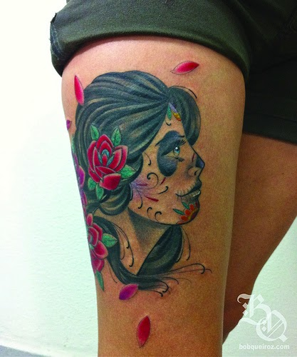 Beautiful Catrina Tattoos Idea