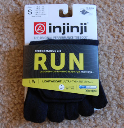 INJINJI Performance 2.0 Lightweight No-Show Black Socks