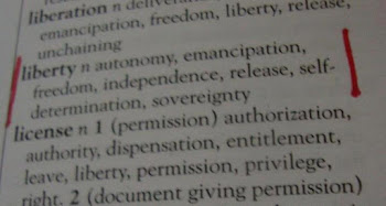 liberty .. free speech .. freedom of expression ..