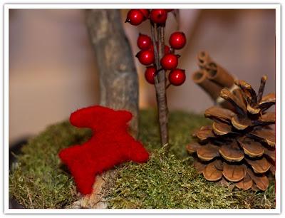 Tovad röd julbock