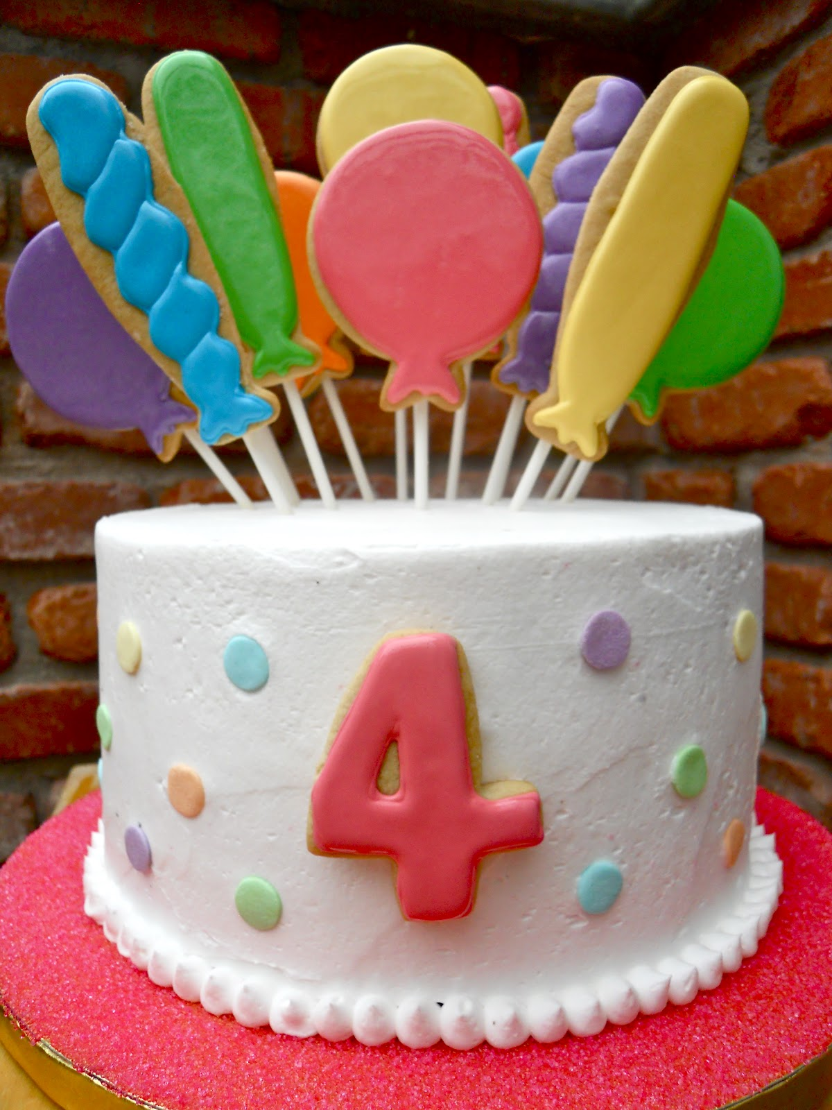 .Oh Sugar Events: Balloon Birthday Cake
