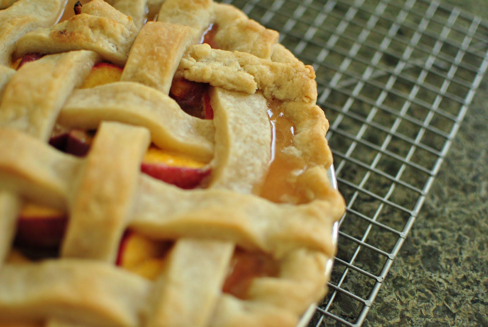 Quiet Like Horses: Old-Fashioned Lattice Top Peach Pie