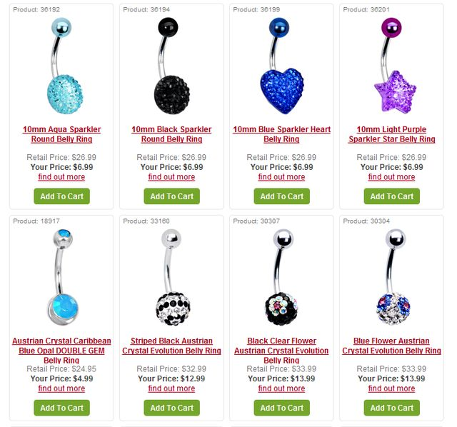 Navel Jewelry Blog Navel Jewelry With Crystals At Bodycandy Com