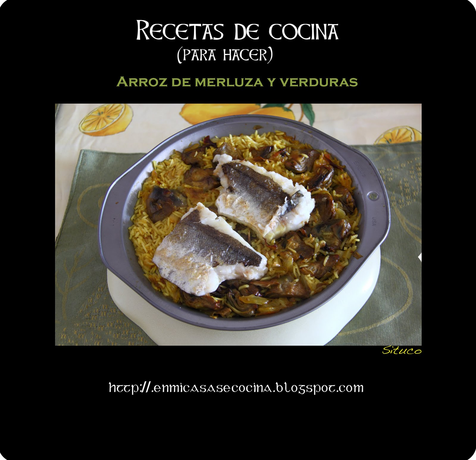 Cocinando en mi casa arroz de merluza y verduras for Cocinando en mi casa