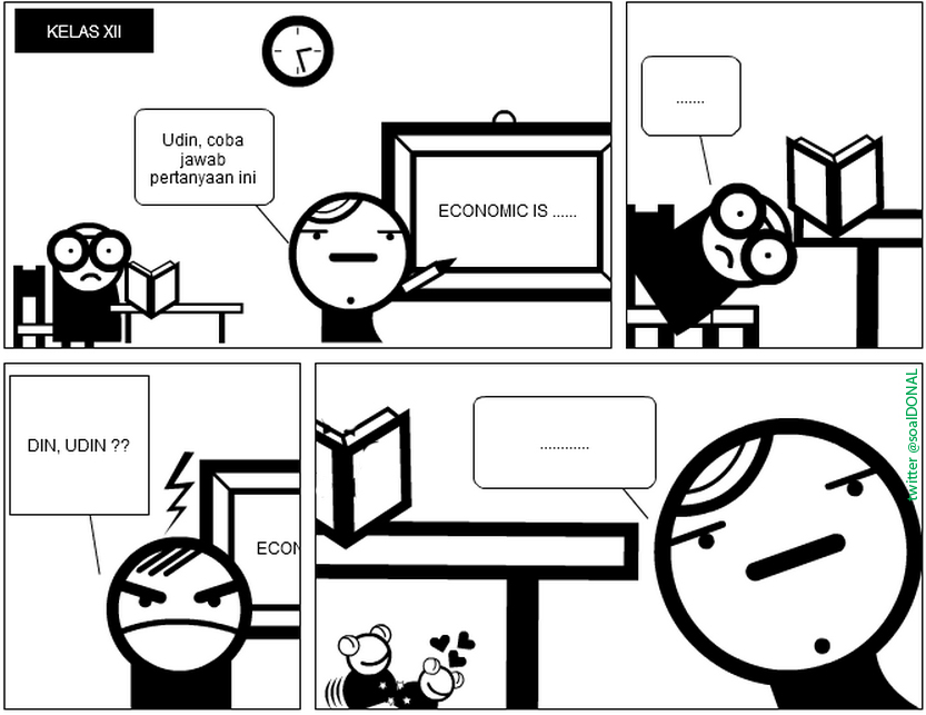 COMIC STRIP: Di Bawah Meja (tweet by: @R_betagar )