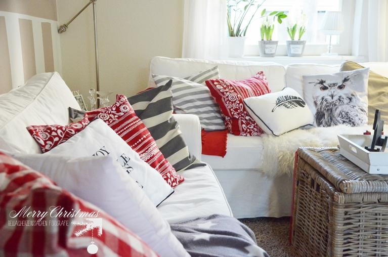 Wohnzimmer weiß rot