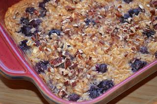 Blueberrry Pecan Baked Oatmeal