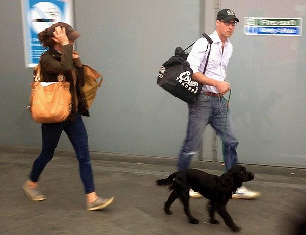 Catherine and William took public transportation