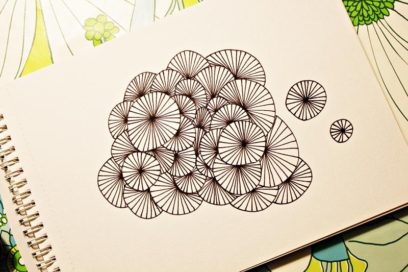 tegn mønstre med passer