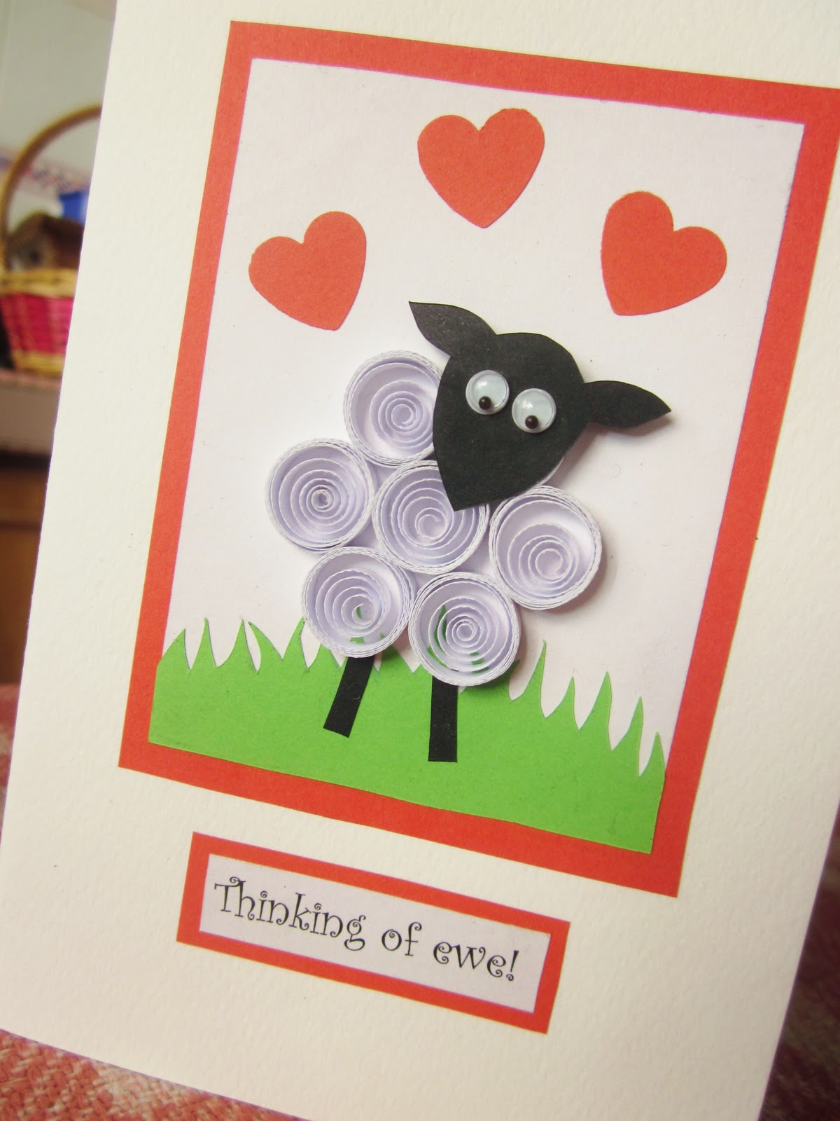 Yuenies fancies handmade quilled pop up cards bookmarks gifts my first thinking of you card which can be used for all occasions but who says you need an occasion anyway nothing sweeter than a message to let that publicscrutiny Image collections
