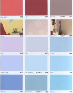 marshall renk kartelas%C4%B1 Marshall boya renk kataloğu