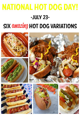 Celebrate National Hot Dot Day with this Roundup of Amazing Hot Dog Variations | It's Always Ruetten | #bacon #grilled #toppings