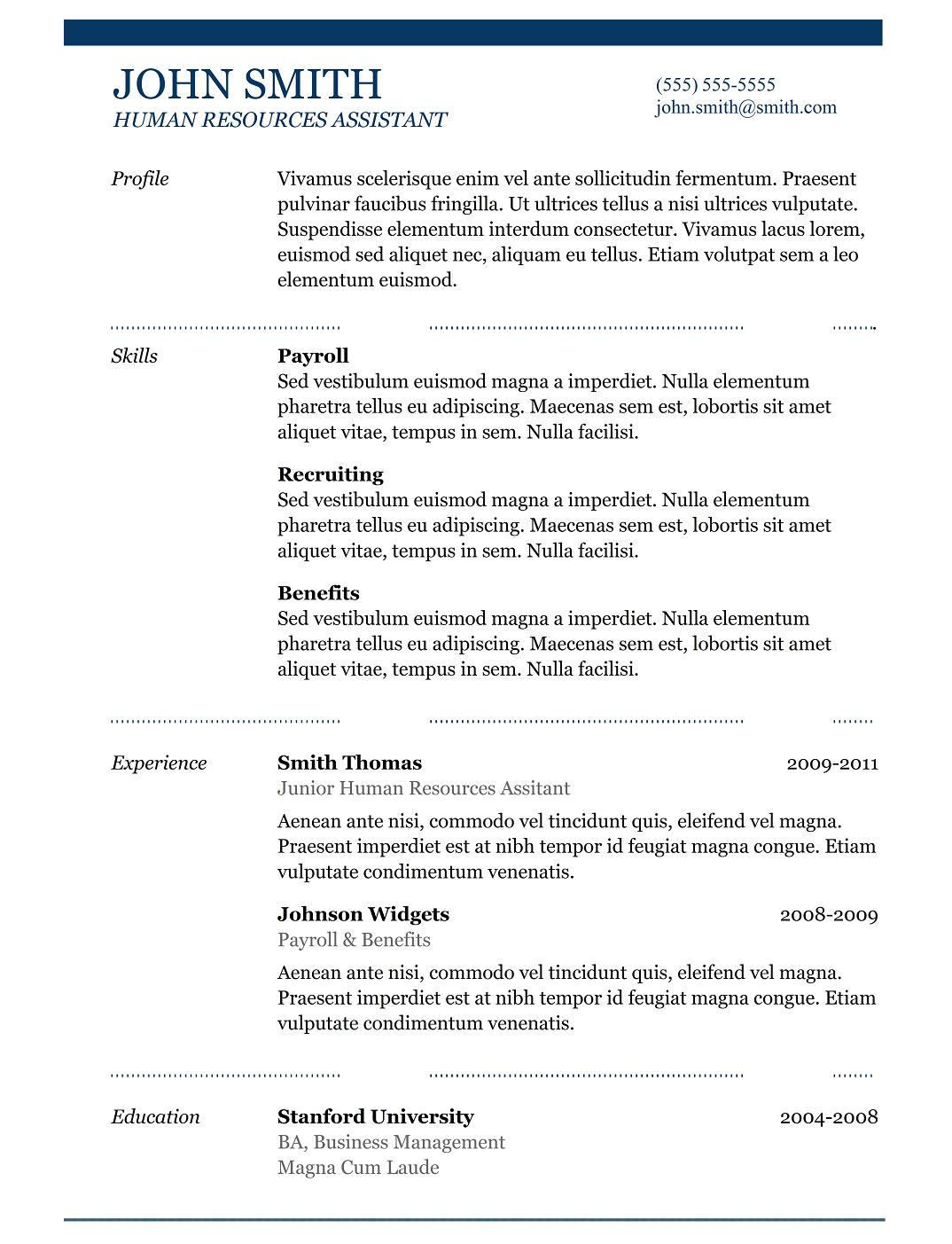 Outline For A Resume For High School Students Internship Resume Samples  Writing Guide Resume Genius Internship  High School Student Resume For College