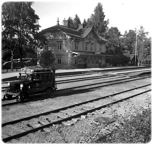 Järnvägsstation räls spårbil