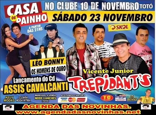 VICENTE JR. TREPIDANT'S NO CLUBE 10 DE NOVEMBRO (TOTÓ).