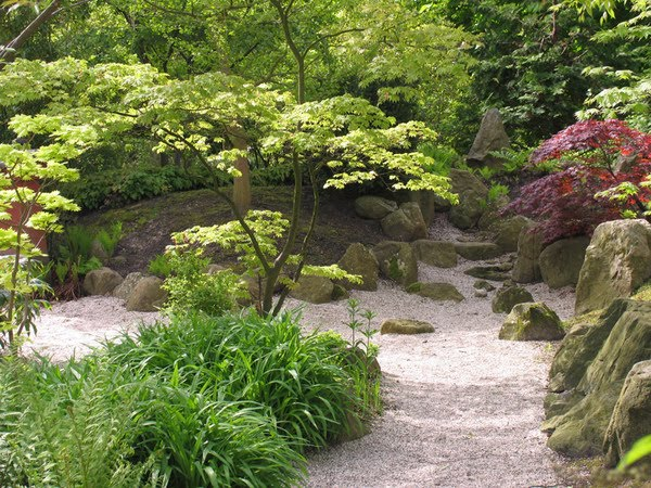 World tour center small japanese garden for Small gravel garden designs