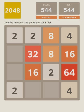 2048 on the iPad