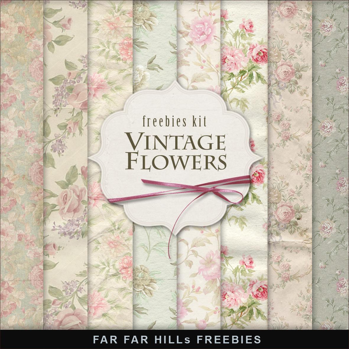Vintage Flowers:Far Far Hill