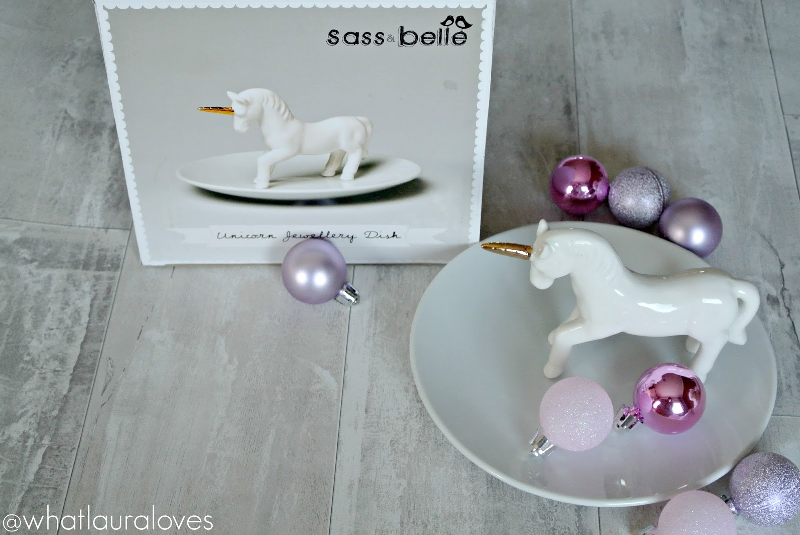 Christmas Gift Guide Flamingo Gifts Sass and Belle Unicorn Jewellery Dish