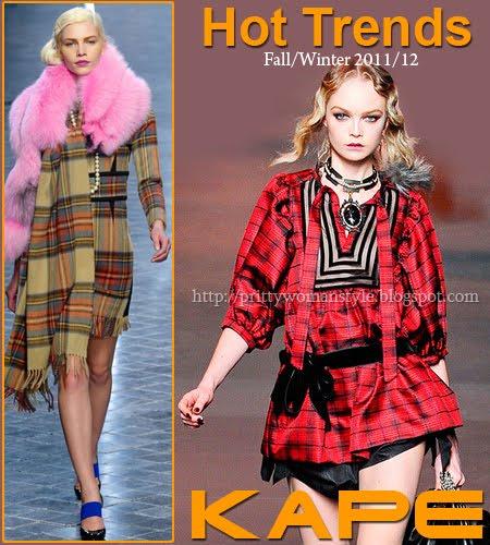 Шотландско каре модерно за есен-зима 2011-2012