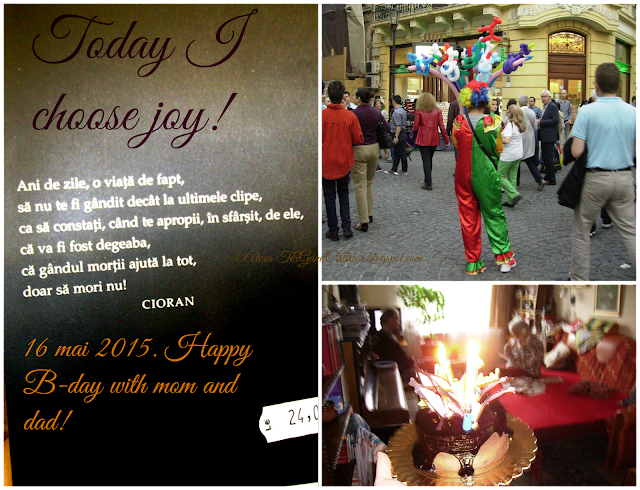 Today I choose Joy! Life is a unique colored balloon and a funny piece of cake!