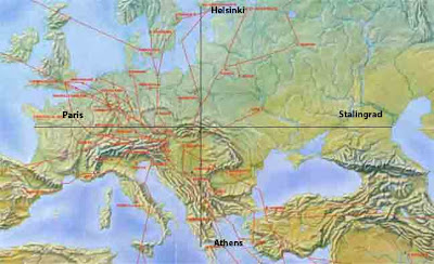 Europe Geographical Map
