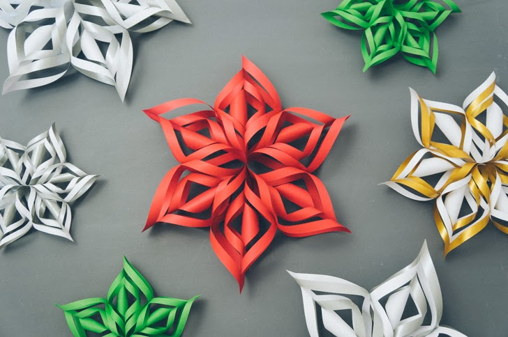 NAMC Montessori snow activities 3d paper snowflakes